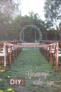 DIY – Wedding ceremony aisle tie-off sign - River. Unity Ceremony, Ceremony Signs, Ceremony Decorations, Wedding Ceremony, Wedding Blog, Diy Wedding, Rustic Wedding, Wedding Ideas, Cricut Wedding