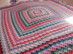 Bavarian crochet blanket
