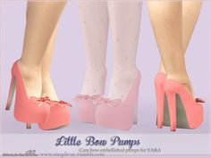 Little bow pumps by Sim-pli Caz - Sims 3 Downloads CC Caboodle
