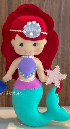 Best 12 Pastel Color Unicorn Stuffed Dolls Soft Plush Toys for Kids Christmas Gift Kids Crafts, Felt Crafts Diy, Felt Diy, Diy Arts And Crafts, Craft Projects, Felt Crafts Patterns, Mermaid Crafts, Baby Mobile, Mermaid Dolls