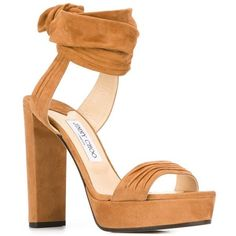 b9a6749b2 Jimmy Choo Kaytrin 120 sandals ($448) ❤ liked on Polyvore featuring shoes,  sandals