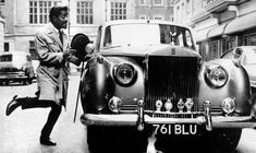 Sammy Davis Jr. ad and his Rolls-Royce Silver Cloud