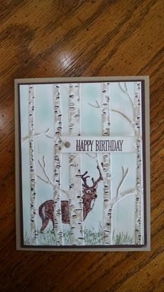 Woodland Noble Deer Masculine Birthday