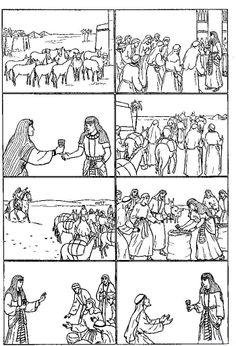 joseph coloring pages child coloring joseph in egypt coloring - Bible Story Coloring Pages Joseph