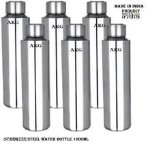 Checkout this latest Water Bottles Product Name: *AKG Stainless Steel Fridge Water Bottle* Material: Stainless Steel Pack: Multipack Size (in ltrs): 1 L Size: Free Size Country of Origin: India Easy Returns Available In Case Of Any Issue   Catalog Rating: ★4.1 (1877)  Catalog Name: AKG Stainless Steel Fridge Water Bottle CatalogID_1111603 C130-SC1644 Code: 849-6960588-3132