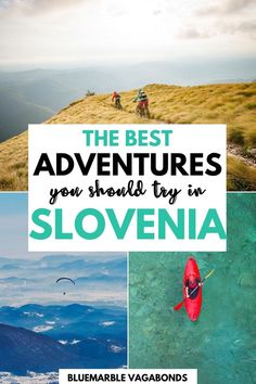 Slovenia is a paradise for adventure enthusiasts. Check out top outdoor adventures in Slovenia you should add to your Slovenia bucket list - from rafting and kayaking on Soca river around Bovec and hiking in Triglav National Park to canyoning near Bled, skiing near Maribor, Rogla or Kranjska Gora, mountain biking, exploring Slovenian caves  and more!  ITravel Slovenia I Visit Slovenia I Slovenia things to do I Slovenia hiking I Slovenia itinerary Travel Tips For Europe, Travel Around Europe, Top Travel Destinations, Best Places To Travel, Travel Ideas, Visit Slovenia, Slovenia Travel, Montenegro Travel, Serbia Travel