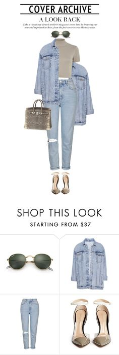 """""""1° - 2.0.1.7"""" by euluana ❤ liked on Polyvore featuring Ray-Ban, Pull&Bear, River Island, Topshop, Gianvito Rossi, Hermès, StreetStyle, fashionset and 2017"""