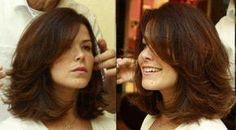 Same cut, different angle 2 ♥️ Medium Hair Cuts, Medium Hair Styles, Curly Hair Styles, Short Wavy Hair, Hair Color And Cut, Shoulder Length Hair, Great Hair, Hair Today, Hair Dos