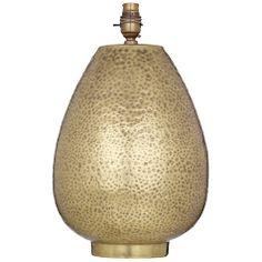 Buy John Lewis Valda Pot Lamp Base, Brass Online at johnlewis.com