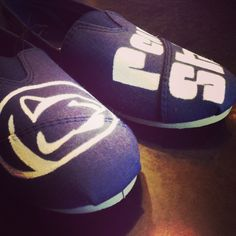 the best attitude b50b7 2124a Penn State hand painted shoes