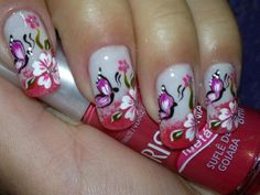 All For Fashion Design represent you a collection of 26 Amazing Trendy Nail Designs , hope these pictures will give you more inspiration for your nails. Nail Art 2014, Fingernails Painted, Wide Nails, Latest Nail Art, Manicure E Pedicure, Beautiful Nail Designs, Flower Nails, Trendy Nails, Nail Arts