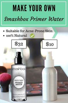 diy smashbox primer water / makeup setting spray