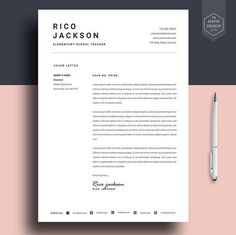 Resume template for Ms Word CV template with FREE by HavinDesign Cover Letter Design, Free Cover Letter, Cover Letter For Resume, Cover Letter Template, Cover Letters, Cover Letter Example, Resume Design Template, Cv Template, Resume Templates