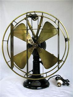 W.E. Coleman Manufacturing Co. 'The Coleman Deflector. Antique electrical fan  Circa 1903 American.
