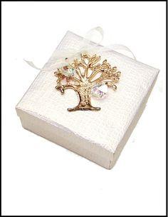 Μπομπονιέρα Σε Κουτάκι Με Δέντρο Ζωής
