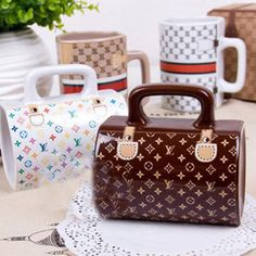"""Cher"" café ♥Louis Vuitton handbag mugs"