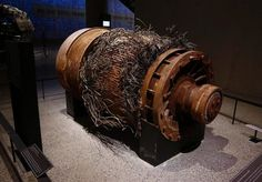 When hijacked Flight 11 struck the North Tower, it severed elevator cables and trapped hundreds of people above floor 93. Below the impact zone, most on floors lower than 92 were able to evacuate via the stairs. This elevator motor, the largest model in the world when installed, powered one of the express or service cars, which moved at a speed of 1,600 feet per minute.