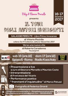"""Arriva il """"Tour degli Autori Emergenti"""" a Roma, il 16 e 17 Dicembre 2017. Un weekend letterario organizzato dalla Blogger Eleonora Marsella e il suo team"""
