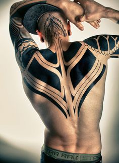 99 Tribal Tattoo Designs for Men & Women. Tribal Chest Tattoos For Females Tribal Tattoo Designs, Tribal Back Tattoos, Back Tattoos For Guys, Black Tattoos, Body Art Tattoos, Tatoos, Back Tattoo Men, Sexy Tattoos, Tattoo Guys