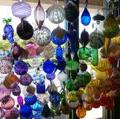 Hand blown glass ornaments just arrived to Appalachian Spring!