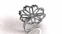 laj-shop   Bijoux bijoux argent, bague fleur, ring, flower, silver, vente en ligne, e-shop, tendance, femme, bijoux femme.
