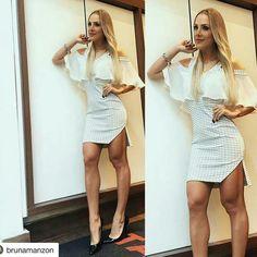 Novidades vestido  TG da linda @brunamanzon disponível no P na cor off white e Preta no tamanho M. Valor : 259,90  ##vestidos #dress #talgui #talguistore #moda #model #modaparameninas #modaparamulheres #itgirls #ootd #santóllomodas #repost #brunamarzon