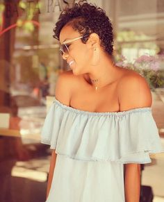 Beautiful! @letoyaluckett | #thecutlife #shorthair #curls #celebhair #beauty #stunner ✂️