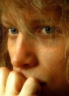Jon's blue eyes...