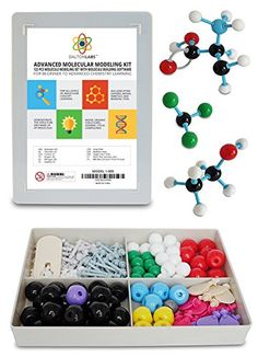 Molecular Model Kit with Molecule Structure Building Software - Dalton Labs Organic Chemistry Set - 123pcs Teacher Edition - Atoms, Bonds, Orbitals, Links - Advanced Learning Science Educational Toys - Welcome to the world of DaltonLABS! A world of fun and creative visual education! This Molecular Model Kit has a total of 200 pieces including a link remover. Super easy to build models for Organic and Inorganic Chemistry, models such as: alkanes, alkenes, alkynes, alky halides, alcohols…