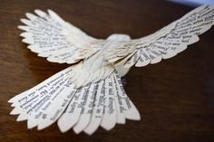 Hand made paper and wood Robin by ZackMclaughlin on Etsy
