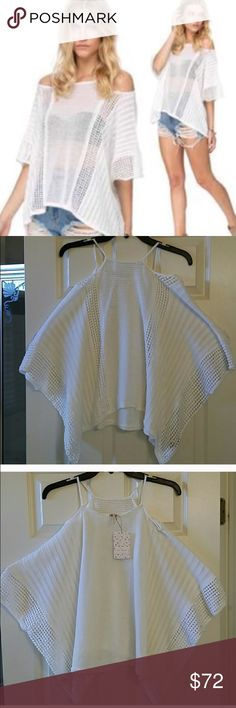 NWT Free People Knitted Pullover NWT. Ivory knitted pullover. Size XS but would fit up to size M. Never worn. Tags still attached. Free People Tops