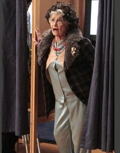 At the voting polls, Aunt Edie thinks she's at a department store, and wonders where the hired help is hiding out.  I LOVE Aunt Edie!  And Grandma Dot. <3