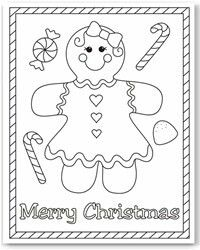 christmas printable card Adult free