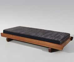Charlotte Perriand; Unique Oregon Pine Daybed, 1951.