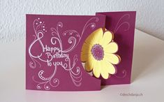 Flower Swing Birthday Card, www.deschdanja.ch