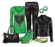 St Paddy by fabulousego on Polyvore featuring Crash & Burn, H&M, Miss Me, Boohoo, 2b bebe, Lucifer Vir Honestus and Pippa Small
