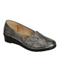 Loving this Pewter Panel Dido Wedge on #zulily! #zulilyfinds