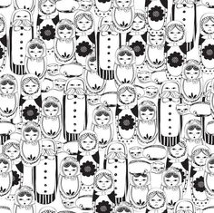 A new design inspired by matryoshka dolls.  Hoping to get this design on to wrapping paper as soon as I can with cards and tags to match. Follow me on Facebook to see how and when I reach the wrapping paper goal! Http://www.facebook.com/tuludraws   Xoxo
