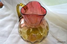 Amberina Glass / Amberina Pitcher / Phoenix by ChristiesCurios