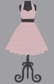 1950;s Vintage Dress with Hope Ribbon motif for a hit of class  Change the color of thread to support your cause.  Included in file one machine embroidery designs 5x7 inch hoop only  Formats include: EXP, HUS, JEF, PES, VIP, XXX  Terms of Use are listed in the Terms Section  Image shows what it may look like stitched out.  Do not purchase this item unless you have an embroidery machine  DUE TO THE NATURE OF THIS DIGITAL ITEM THERE ARE NO REFUNDS!
