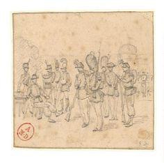 Croquis fait au retour d'une revue- Edouard Detaille Edouard Detaille, Vintage World Maps, Sketches, Waves, Culture, Sketch, Drawings, Ocean Waves, Doodles