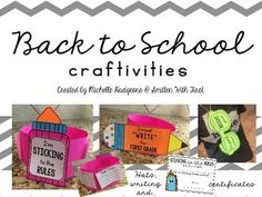 This back to school craftivity packet includes 3 separate crafts with different hat options, writing options and a few different certificates to send home with your kiddos during the first week of school. Heres what is included. - STICKING to the Rules: several different hat options, writing options, and 2 certificates-I'm just WRITE for _____ grade: several different hat options, writing options and 2 certificates-This is going to be a BRIGHT year: several different hat options, writing…