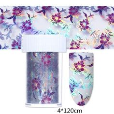 Holographic Nail Foils Floral Feather Holo Paper