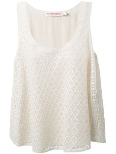 Shop See By Chloé Macrame Lace Top in Bernard from the world's best independent boutiques at farfetch.com. Over 1000 designers from 300 boutiques in one website.