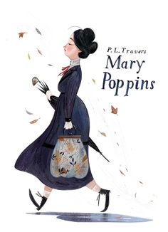 Mary Poppins, illustration by Júlia Sardà Art And Illustration, Illustration Inspiration, Illustrations Posters, Mary Poppins, Disney Drawings, Concept Art, Artsy, Sketches, Cartoon