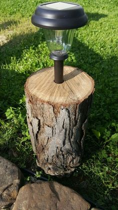 """Cheap and easy protection for solar landscape lights. Drill a 1"""" hole as deep as your spade bit will go, and drop in your light. Now they won't fall prey to the mower, weed wacker, or clumsy people. Great for walking paths, or around the fire pit."""