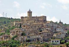 Capestrano, a little village with a castle n churches in Abruzzo, L'Aquila_ Italy