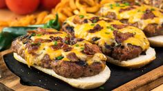 Long boy grilled burgers. Preheat your grill for direct grilling; Mix all the ingredients except the…