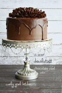 Curly Girl Kitchen: The Most Chocolatiest Chocolate Curl Cake