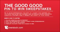 """Online retailer Overstock.com has launched a social media-based, cause-focused sweepstakes inspired by its new """"The Good Good"""" advertising c..."""